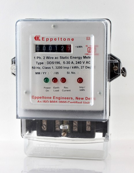 Single Phase Meter with Stepper Counter